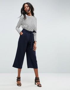 Юбка-брюки с поясом ASOS Tailored - Темно-синий