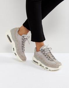 Светло-серые кроссовки Nike Air Max 95 Premium - Серый