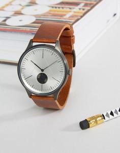 Часы со светло-коричневым кожаным ремешком Cronometrics - Рыжий