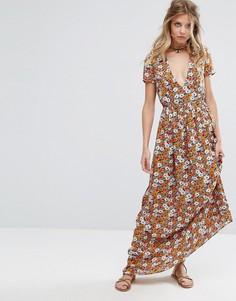 Платье макси с принтом Glamorous - Оранжевый