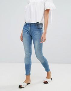 Укороченные джинсы с необработанным краем Parisian - Синий
