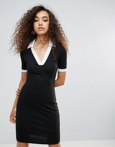 Спортивное платье с контрастной отделкой Unique 21 - Черный