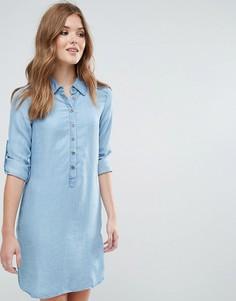 Платье-рубашка с длинными рукавами Lavand - Синий