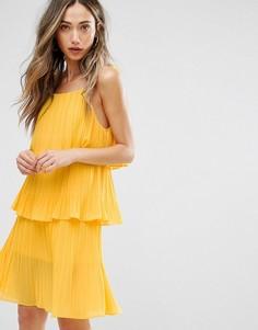Многослойное плиссированное платье Pearl - Желтый