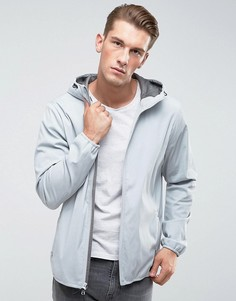 Серая легкая нейлоновая куртка с капюшоном Abercrombie & Fitch - Серый