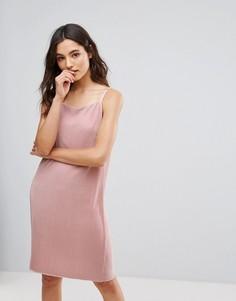 Платье-комбинация из трикотажа с отливом Only Peno - Розовый