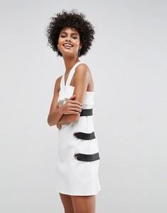 Платье мини с люверсами ASOS - Белый