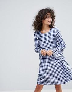 Платье с присборенной юбкой и принтом в клетку Vero Moda - Мульти