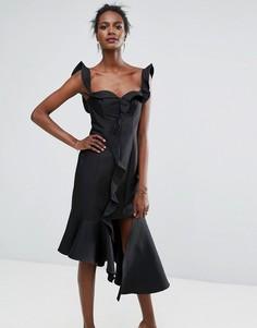 Платье с оборкой Keepsake Wallflower - Черный