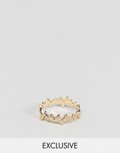 Золотистое кольцо DesignB London эксклюзивно для ASOS - Золотой