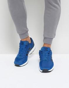 Синие кроссовки adidas Originals ZX Flux - Синий