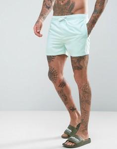 Бирюзовые короткие шорты для плавания ASOS - Синий