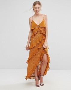 Платье с асимметричной оборкой Isla Tempo - Рыжий