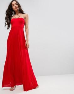 Плиссированное платье макси ASOS - Красный