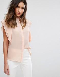 Блузка с оборками на плечах ASOS - Розовый
