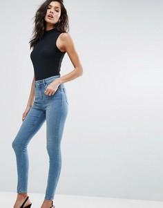 Синие джинсы скинни ASOS RIDLEY - Синий