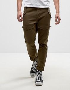 Зауженные рабочие брюки с карманами спереди ASOS - Коричневый