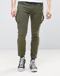 Зауженные брюки-карго Sisley - Зеленый