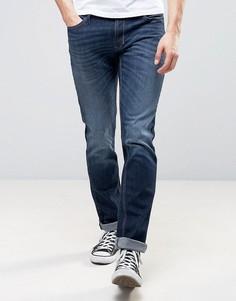 Выбеленные джинсы слим цвета индиго Sisley - Синий