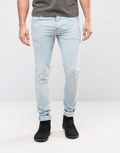 Выбеленные голубые джинсы скинни Pepe Finsbury - Синий