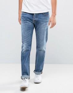 Выбеленные джинсы Nudie Jeans Co Steady Eddie - Синий