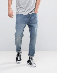 Выбеленные укороченные джинсы Rollas Stubs - Синий Rollas