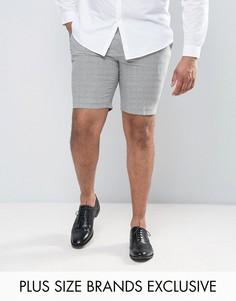 Строгие шорты с узором гусиная лапка Heart & Dagger PLUS - Серый