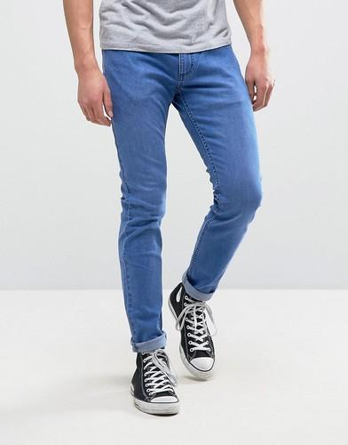 Узкие эластичные джинсы с отворотами Rollas Rollies - Синий