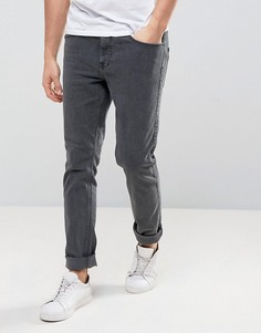 Серые джинсы слим из органического хлопка Dr Denim Clark - Серый