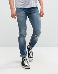 Узкие джинсы Rollas Thin Captain - Синий Rollas