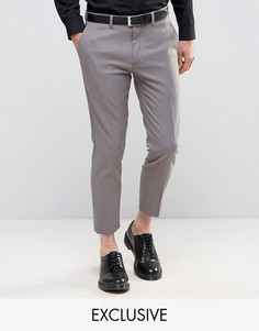 Укороченные брюки скинни Only & Sons - Серый