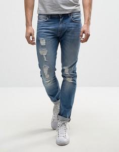 Выбеленные джинсы скинни Lee Luke - Синий