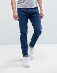 Темно-синие выбеленные джинсы скинни Diesel Tepphar 084EH - Синий