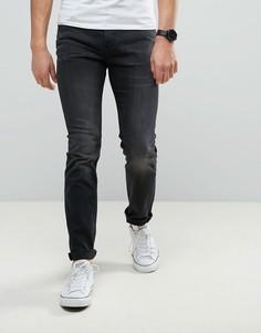 Черные облегающие эластичные джинсы Lee Rider - Синий