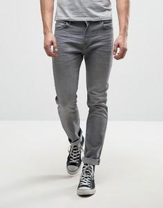 Эластичные узкие джинсы серого выбеленного цвета Lee Rider - Серый