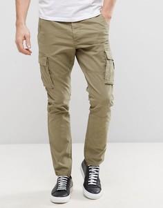Узкие брюки карго Only & Sons - Бежевый