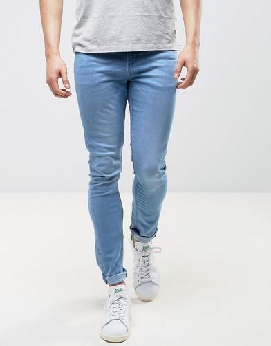 Голубые джинсы с напылением LDN DNM - Синий