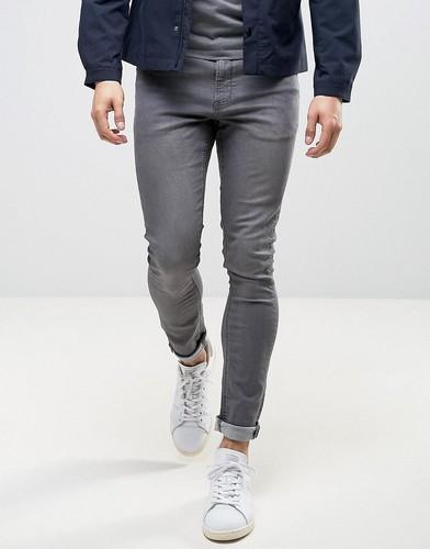 Серые джинсы с напылением LDN DNM - Серый