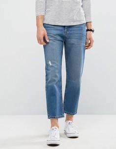 Суженные книзу укороченные джинсы Kiomi - Синий
