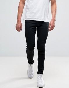 Черные супероблегающие джинсы New Look - Черный