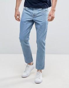 Светлые укороченные джинсы слим ASOS - Синий