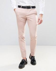 Супероблегающие брюки с окантовкой Noose & Monkey - Розовый