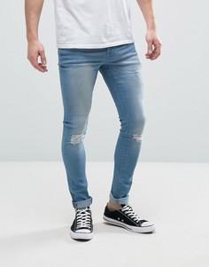 Рваные джинсы суперскинни Hoxton Denim - Синий