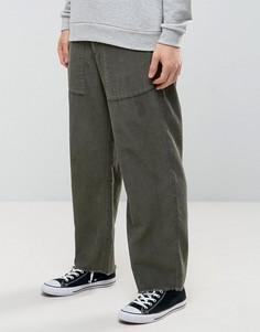 Свободные вельветовые брюки цвета хаки ASOS - Зеленый