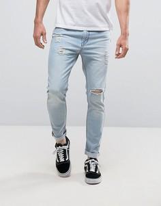 Светлые джинсы скинни Kubban - Синий