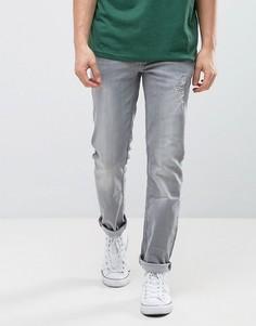 Зауженные джинсы с рваной отделкой Burton Menswear - Серый