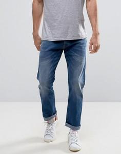 Выбеленные прямые джинсы Esprit - Синий