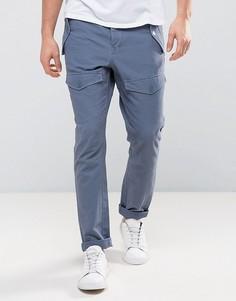 Синие зауженные брюки с карманами спереди ASOS - Синий