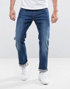 Прямые эластичные джинсы G-Star 3301 - Синий