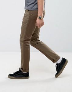 Зауженные брюки цвета хаки со вставками ASOS - Зеленый